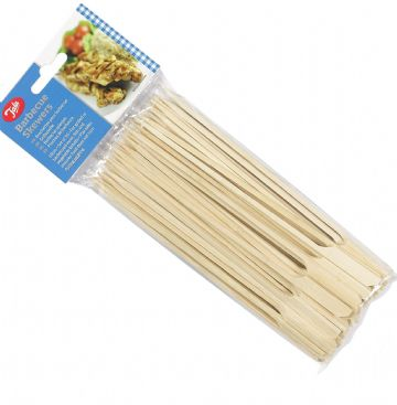 Tala 50x 18cm Bamboo Wooden Skewers Sticks Burger Buffet BBQ
